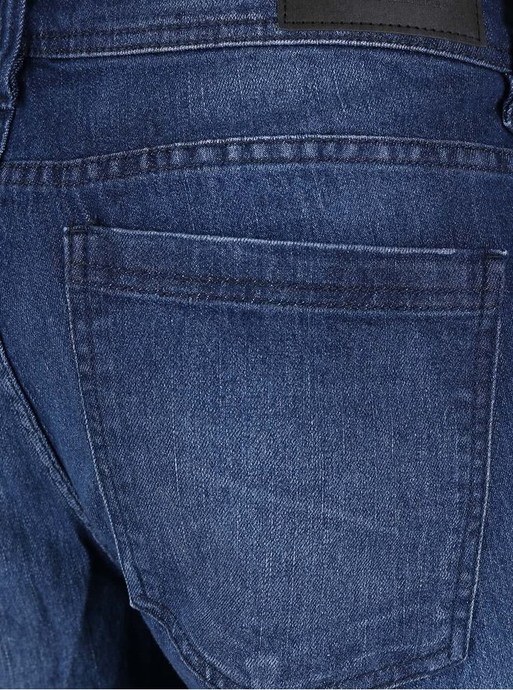 Blugi albaștri slimt fit Blend cu aspect decolorat