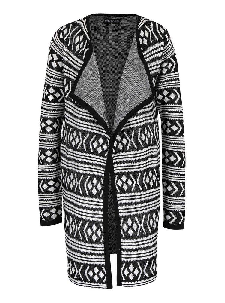 Černo-bílý kardigan se vzorem Haily´s Tina