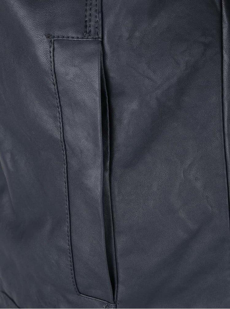 Šedá koženková bunda Blend