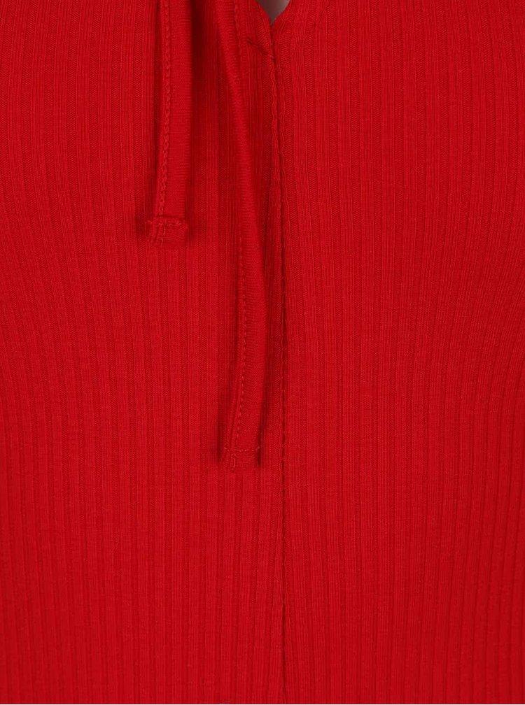 Červené rebrované body so šnurovaním TALLY WEiJL