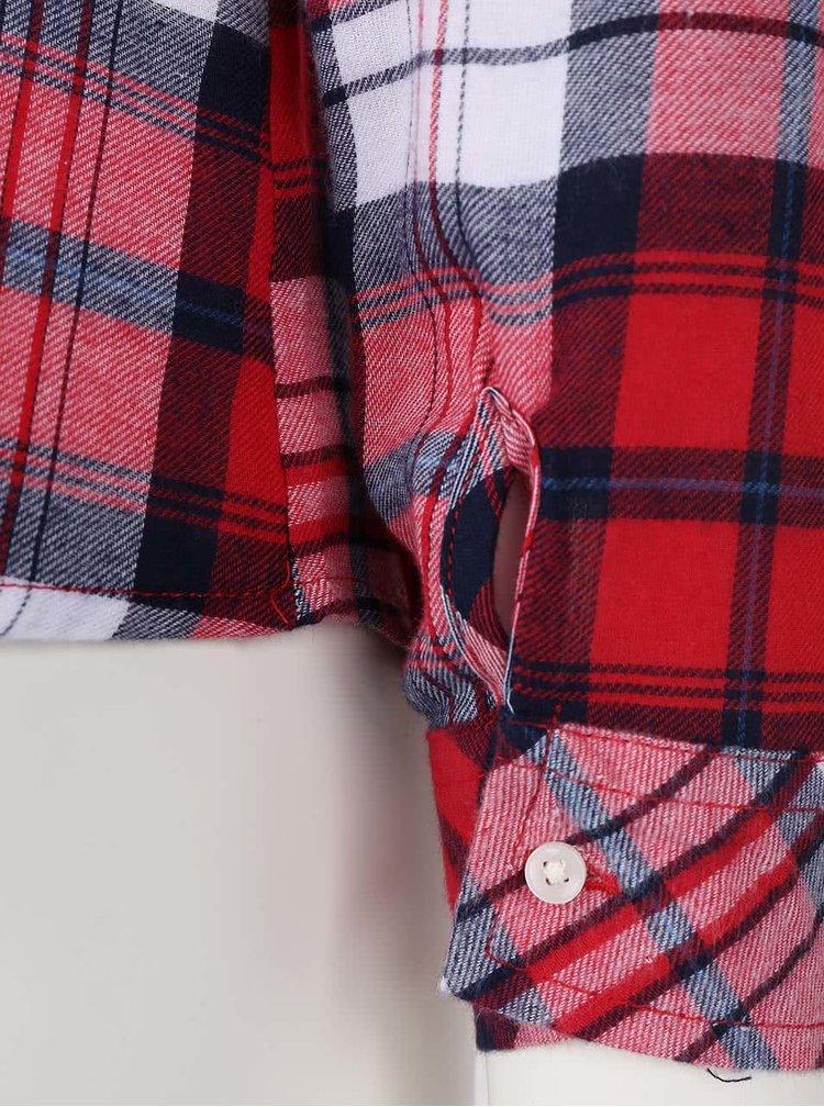 Bílo-červená kostkovaná košile s kapsami TALLY WEiJL