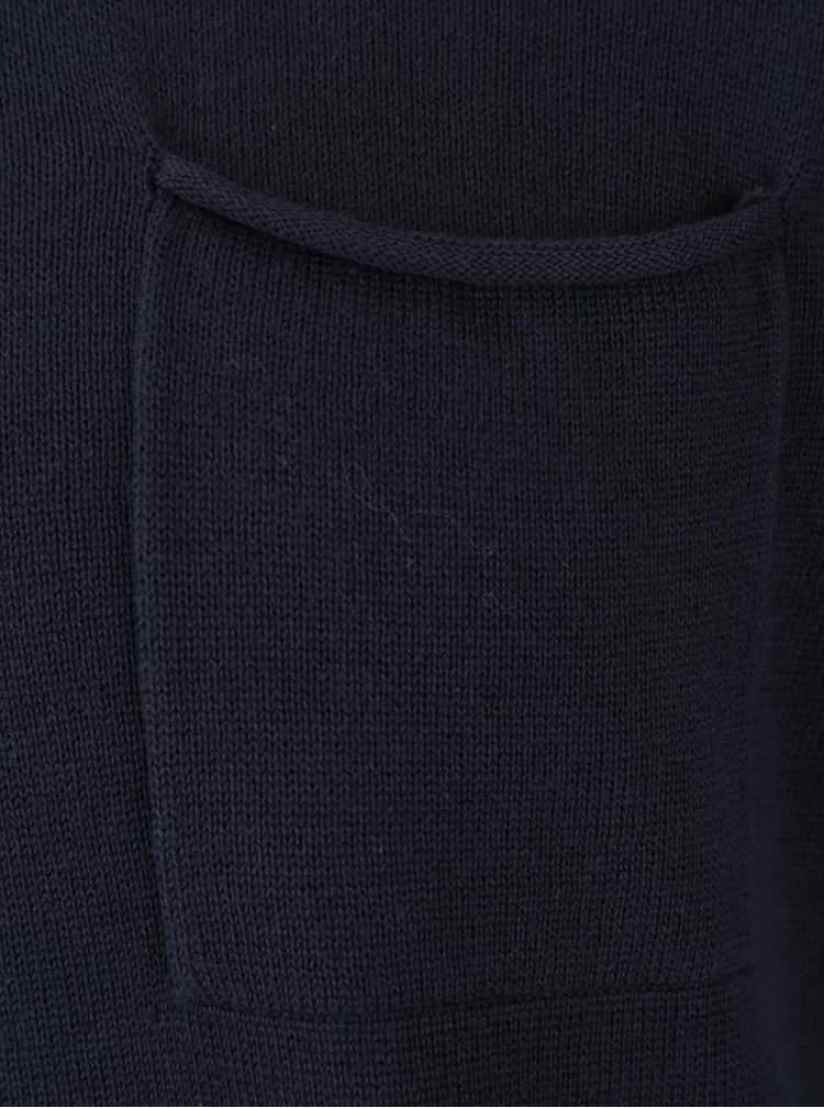 Tmavomodrý sveter s vreckom Blend