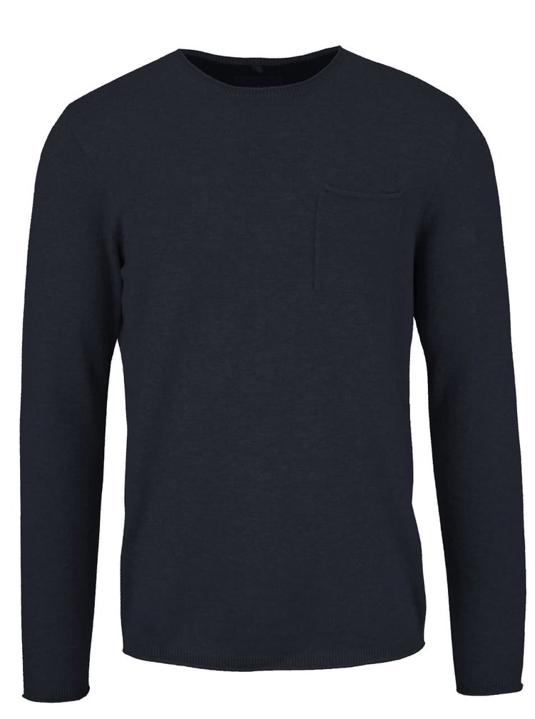 Tmavě modrý svetr s kapsou Blend