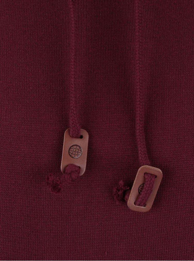 Vínový lehký svetr s rolákem Blend
