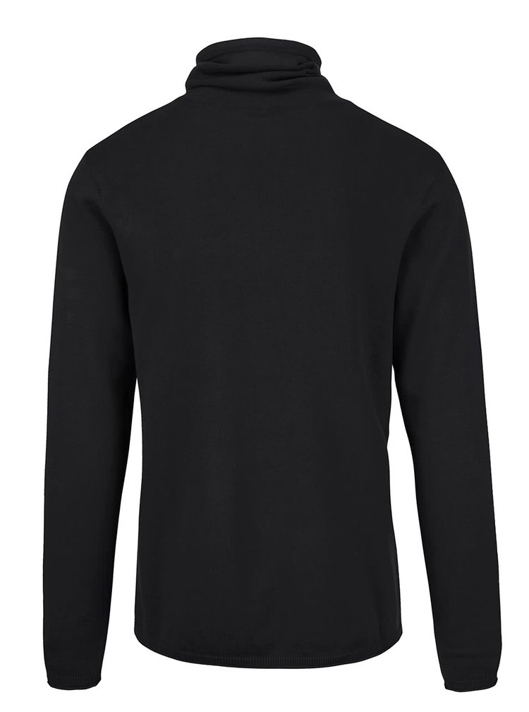 Černý lehký svetr s límcem Blend