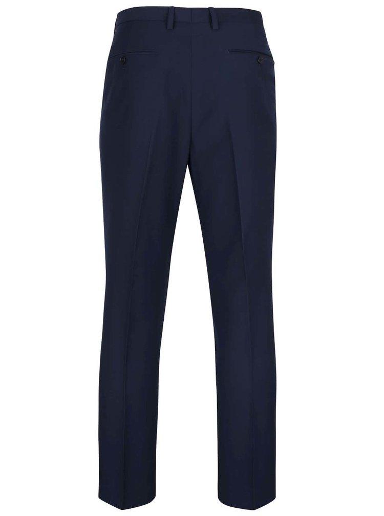 Tmavomodré spoločenské nohavice Burton Menswear London