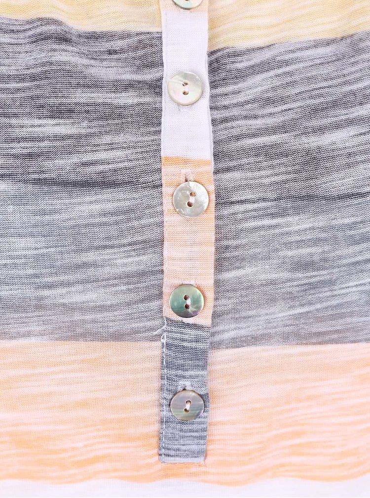 Žluto-šedé žíhané tílko s pruhy  Haily´s Judy