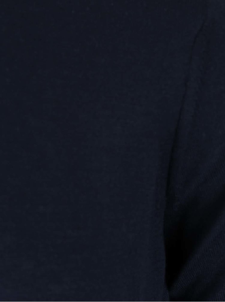 Tmavomodré tričko s krátkym rukávom Burton Menswear London