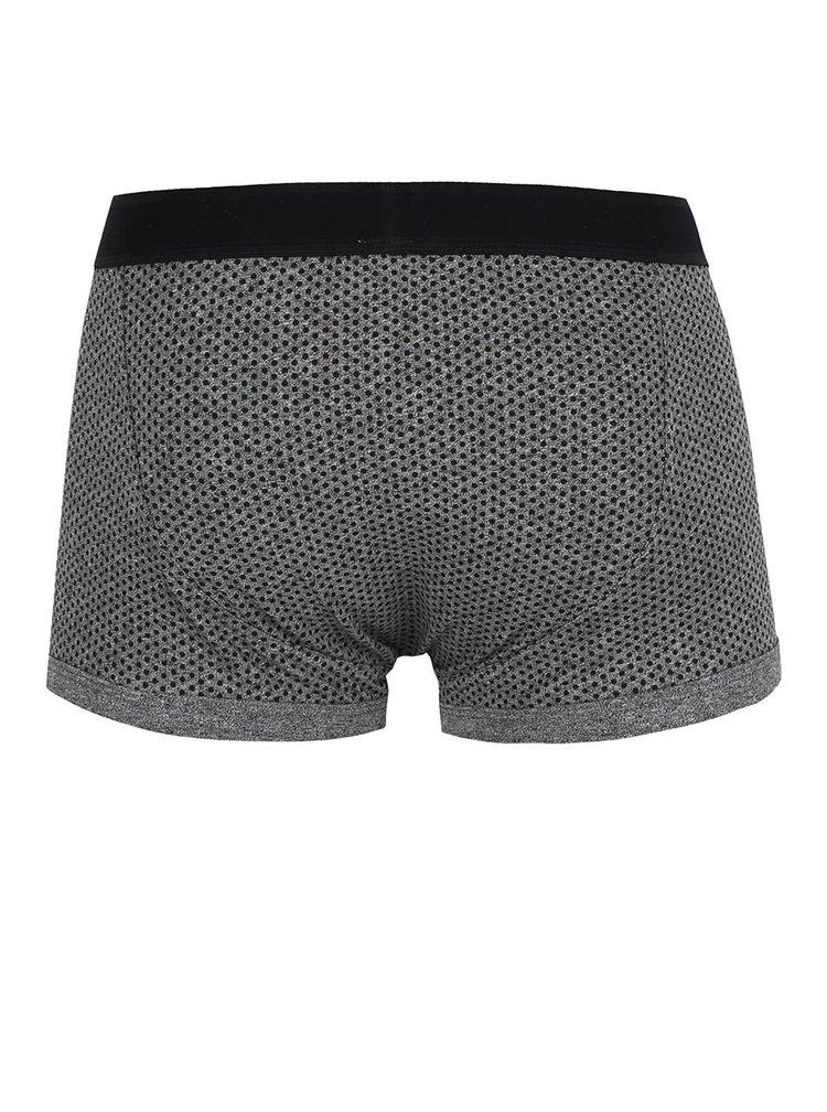 Sada tří vzorovaných boxerek v šedé a černé barvě Burton Menswear London
