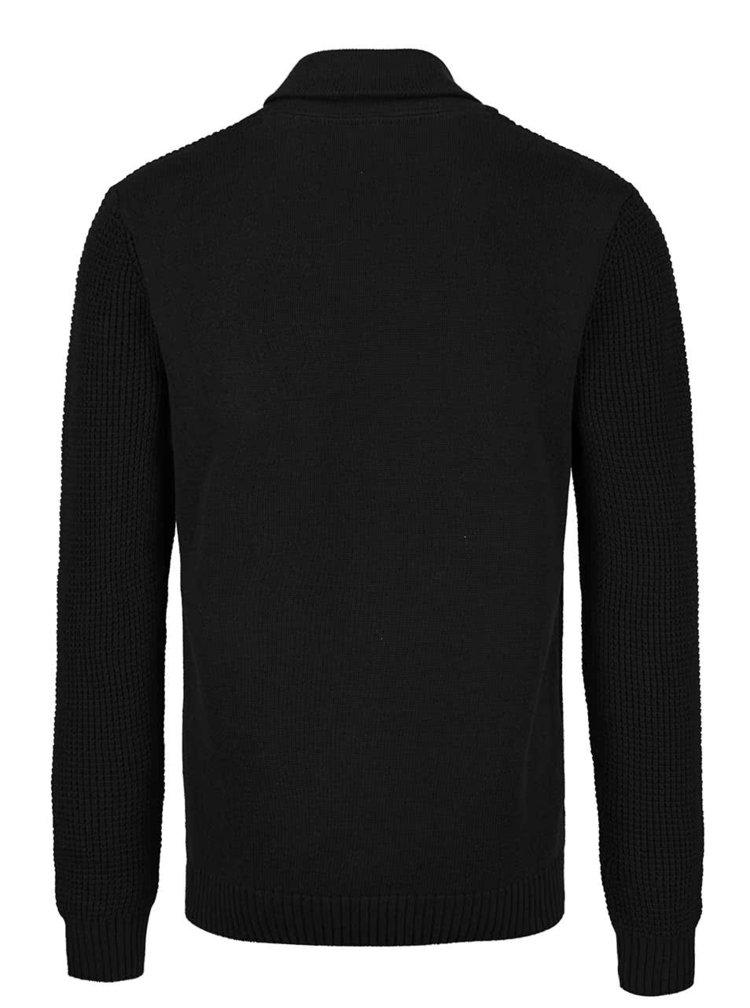Pulover negru din jerseu Blend