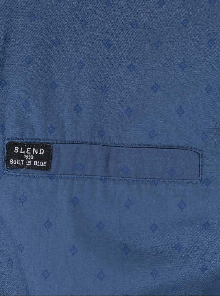 Cămașă albastră slim fit Blend din bumbac