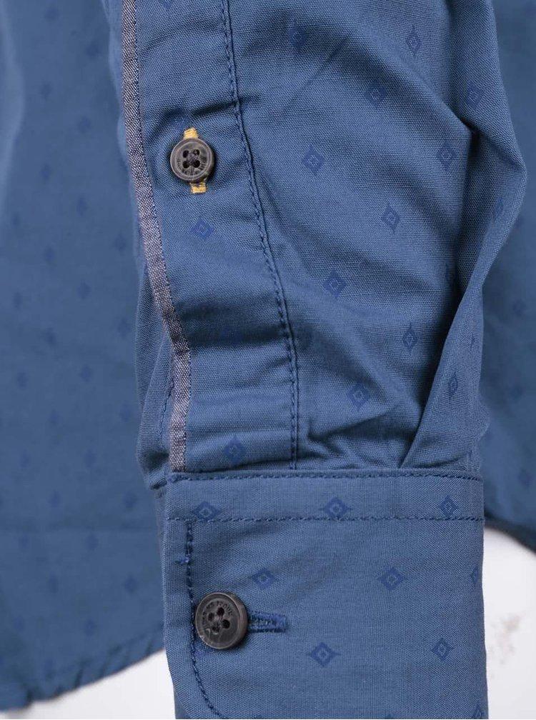 Camasa albastra slim fit Blend din bumbac