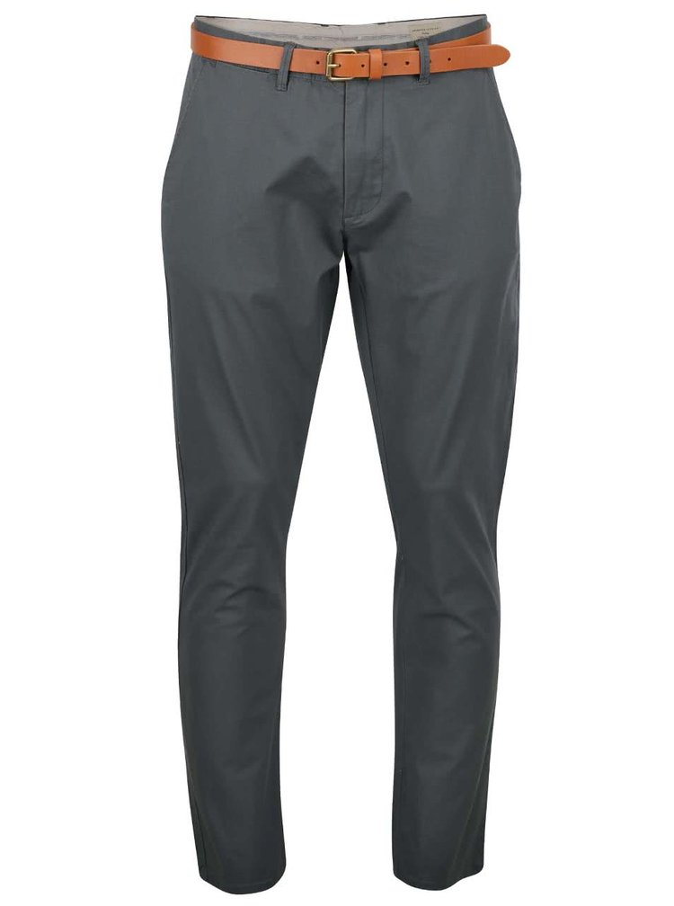 Zelenošedé slim fit chino kalhoty  Selected Homme Yard