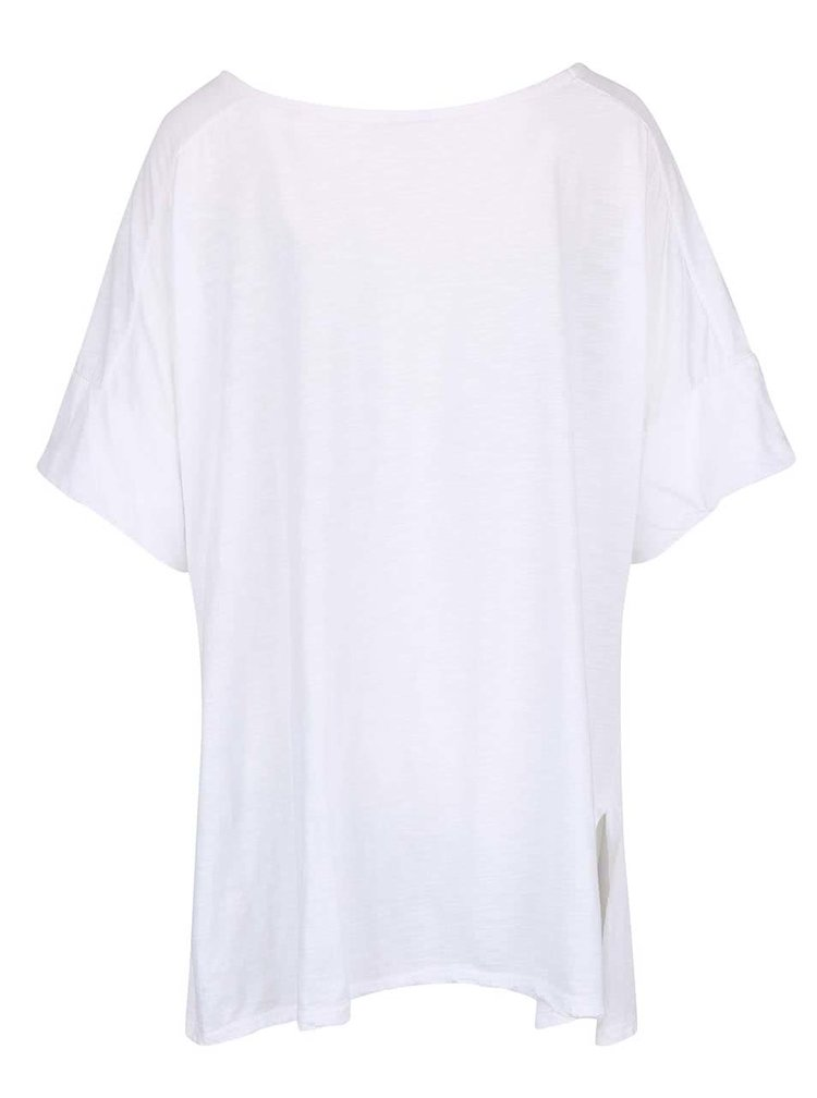 Tricou alb oversized ZOOT simple din bumbac