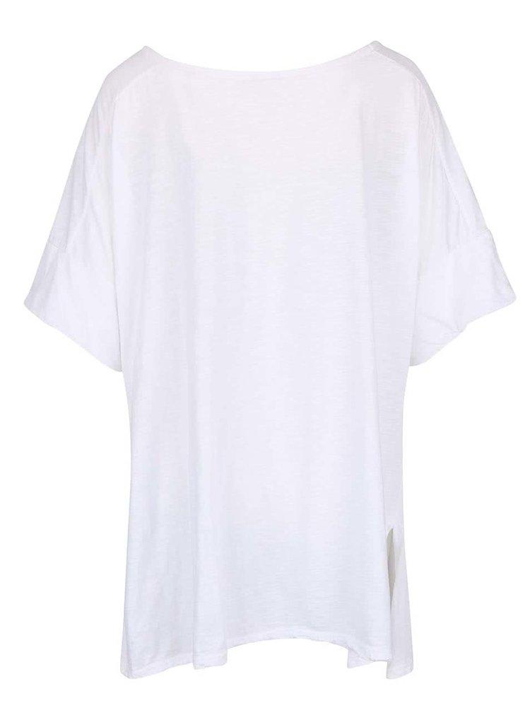 Bílé dámské volnější tričko s krátkým rukávem ZOOT simple