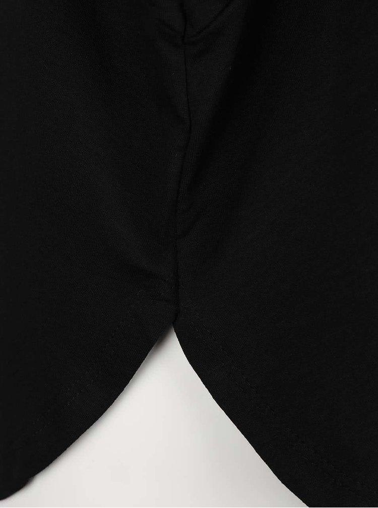 Černé dámské volnější tričko s netopýřími rukávy ZOOT simple