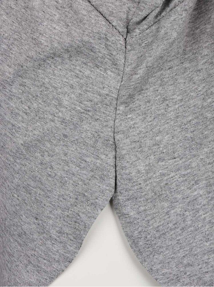 Sivé dámske voľnejšie tričko s netopierími rukávmi ZOOT simple