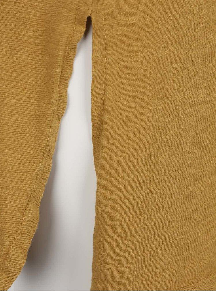 Horčicové dámske voľnejšie tričko s krátkym rukávom ZOOT simple