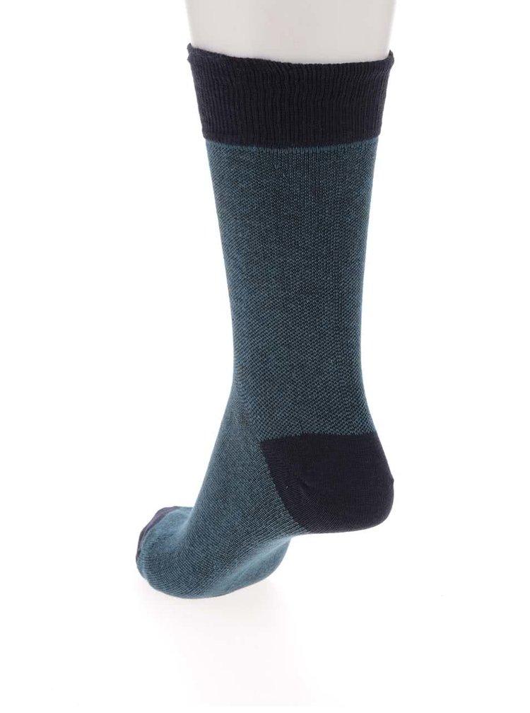 Súprava piatich párov fialových a zelených ponožiek so vzorom Burton Menswear London