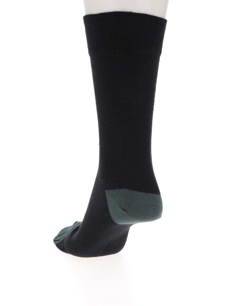 Sada pěti párů černých ponožek s barevnými detaily Burton Menswear London