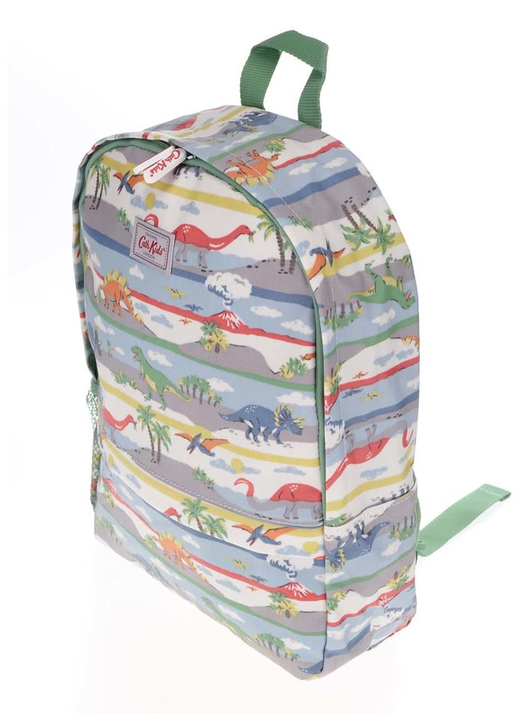 Zelený detský batoh s dinosaurami Cath Kidston