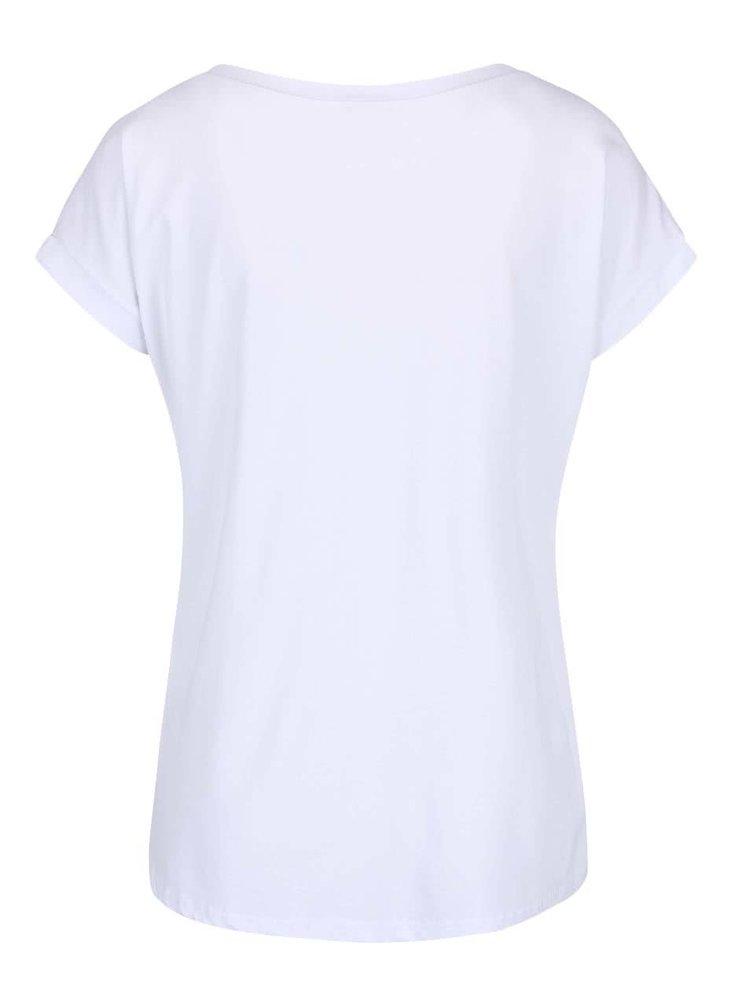Bílé tričko s pruhovanou hvězdou ZOOT simple