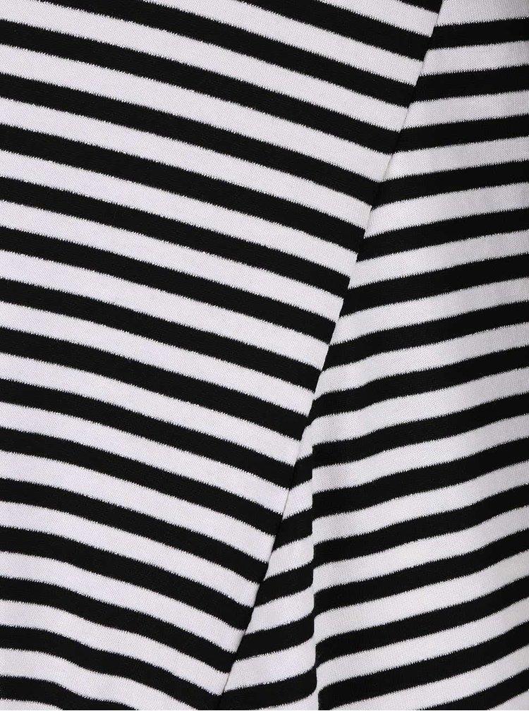 Tricou în dungi alb cu negru ZOOT