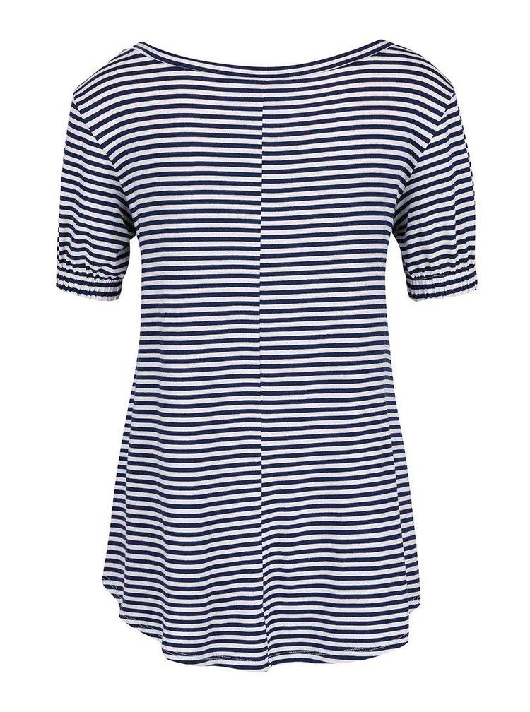 Bílo-modré pruhované volnější  tričko ZOOT simple