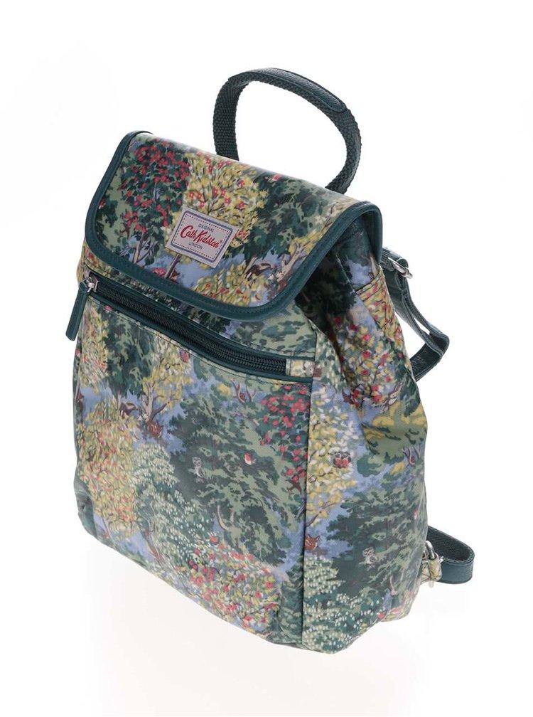 Zelený batoh s přírodním motivem Cath Kidston