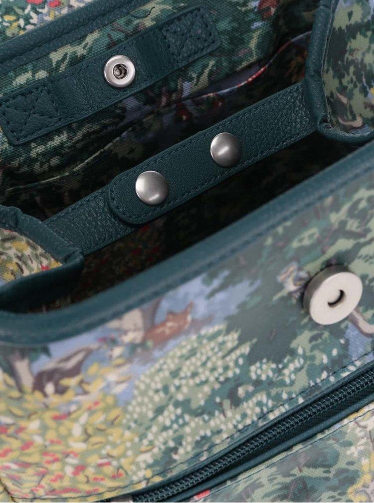 Zelený batoh s prírodným motívom Cath Kidston