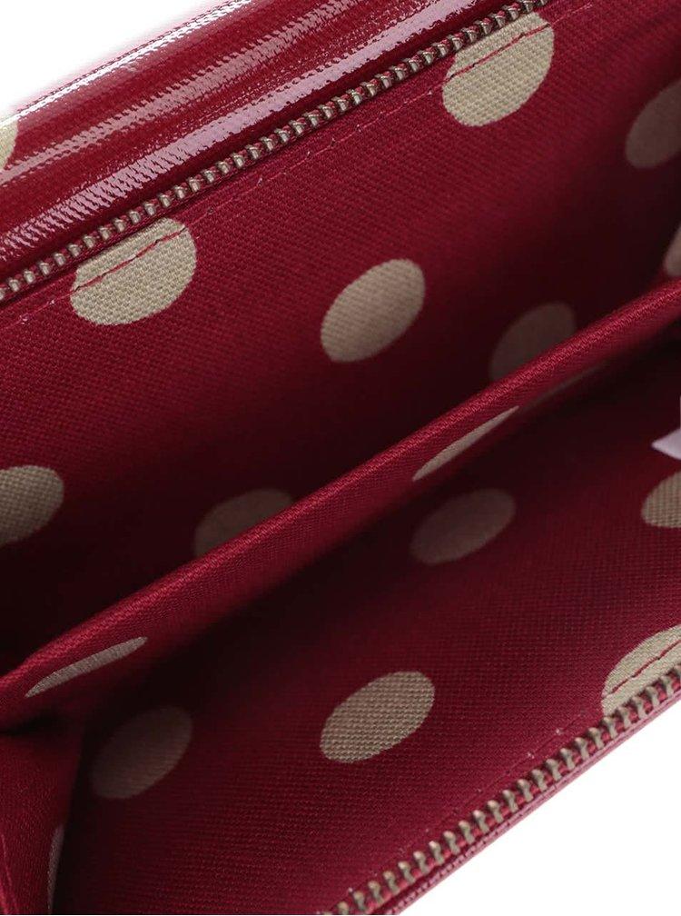 Červená peněženka s puntíky Cath Kidston