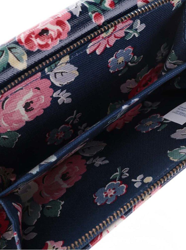 Tmavomodrá peňaženka s farebnými kvetinami Cath Kidston
