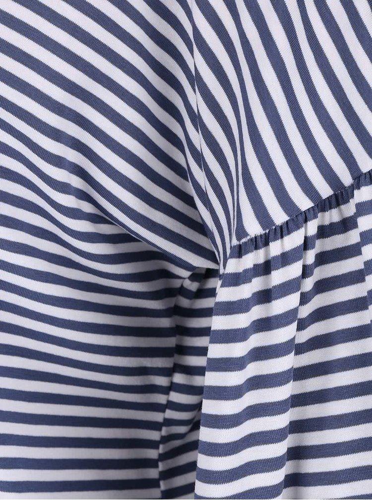 Modrý crop top s volnými rukávy ZOOT simple