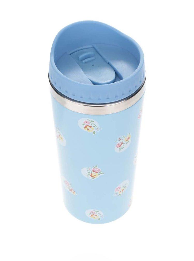Modrý termohrnek s květinovým motivem Cath Kidston