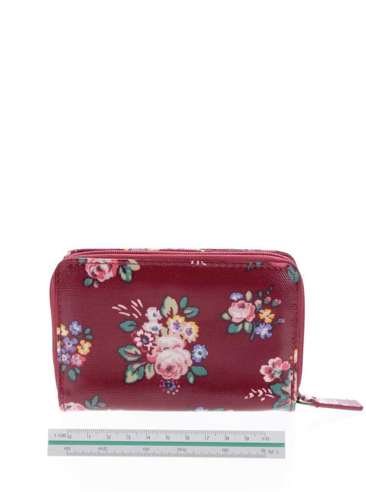Červená peňaženka na zips s kvetinami Cath Kidston