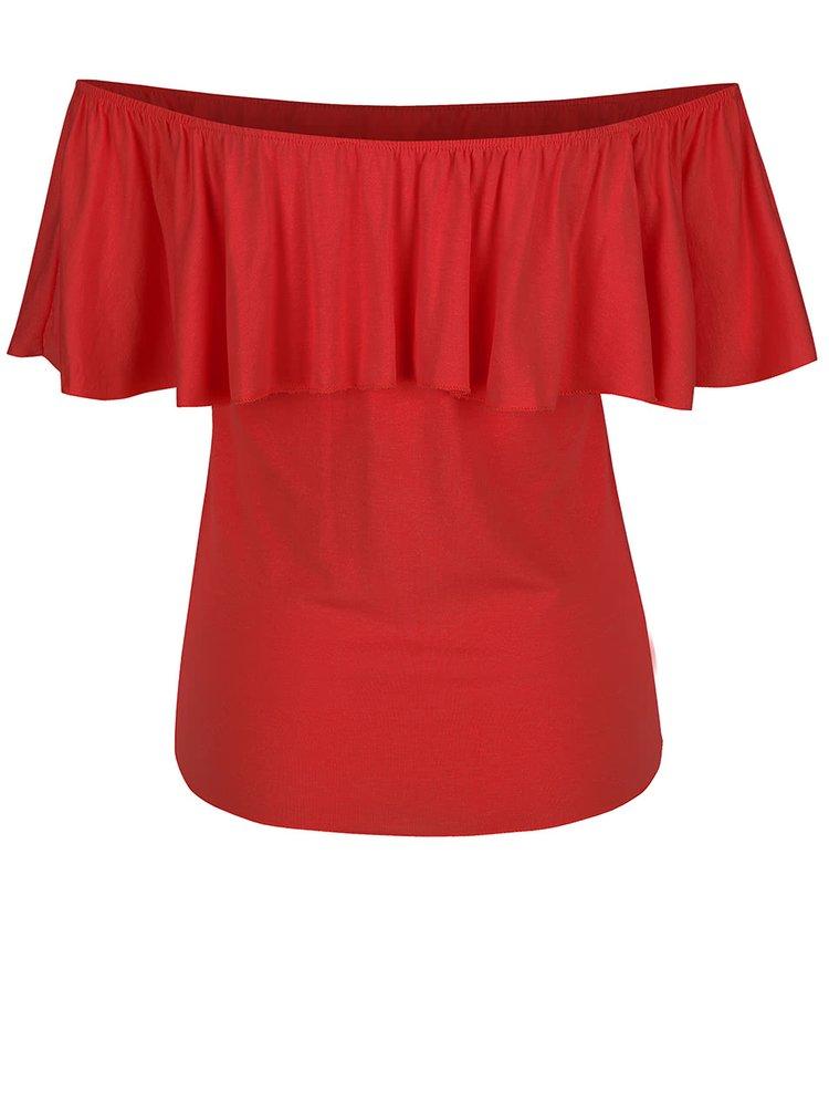 Červené tričko s odhalenými ramenami ZOOT simple