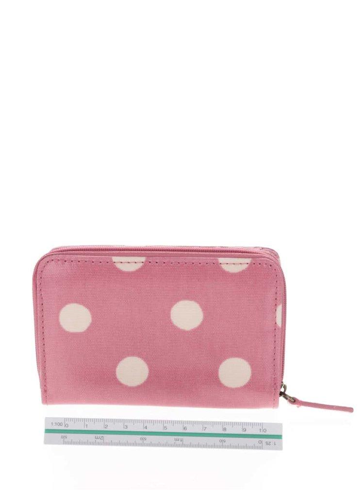 Ružová peňaženka na zips s bodkami Cath Kidston