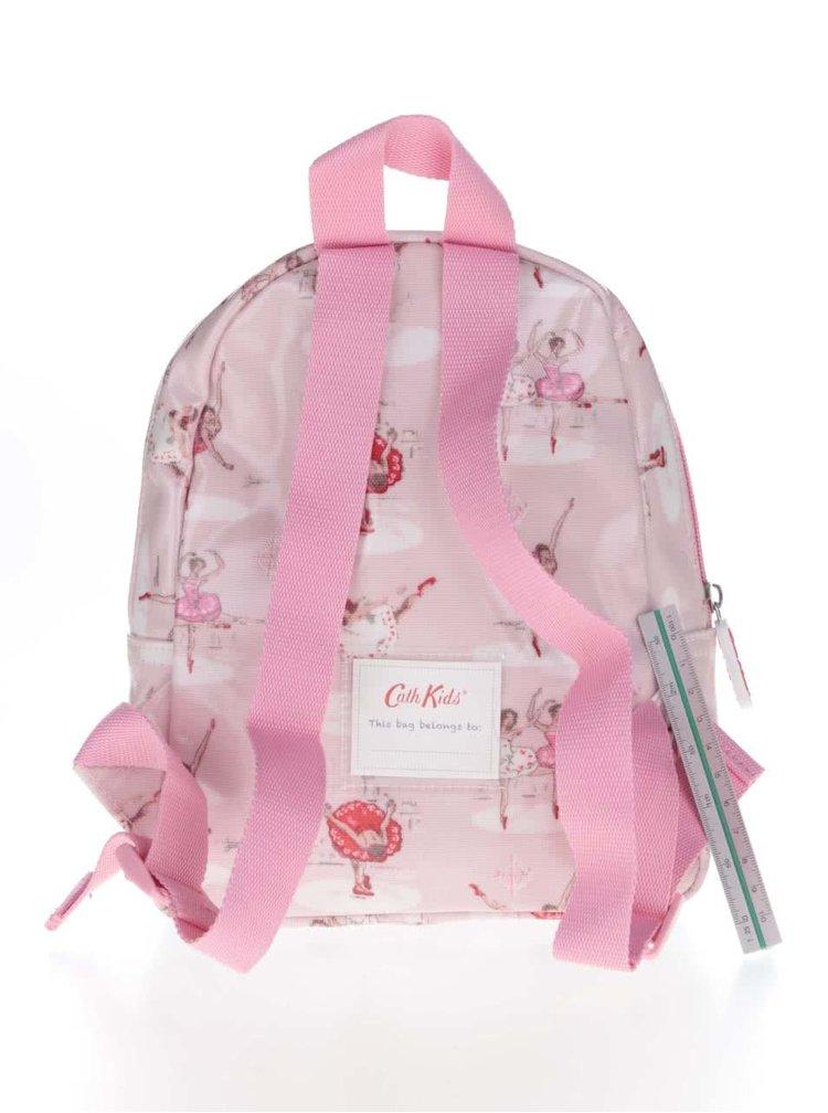 Růžový dívčí batoh s baletkami Cath Kidston