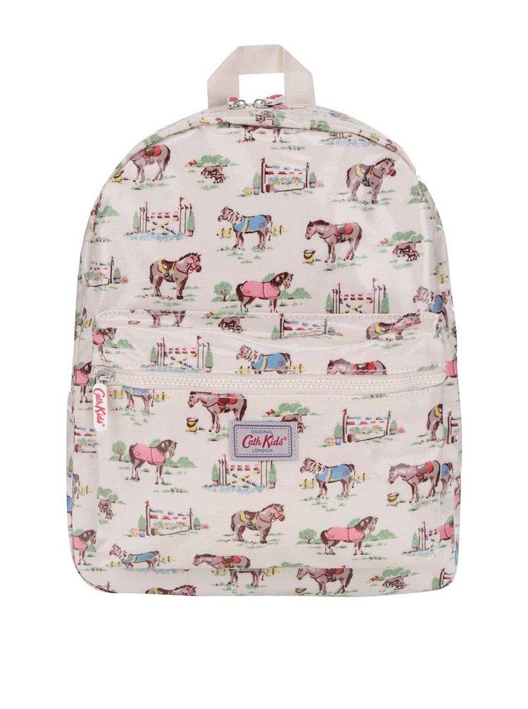 Krémový detský batoh s koňmi Cath Kidston