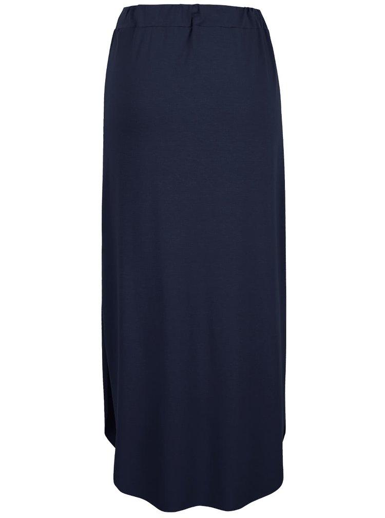 Tmavomodrá midi sukňa ZOOT simple