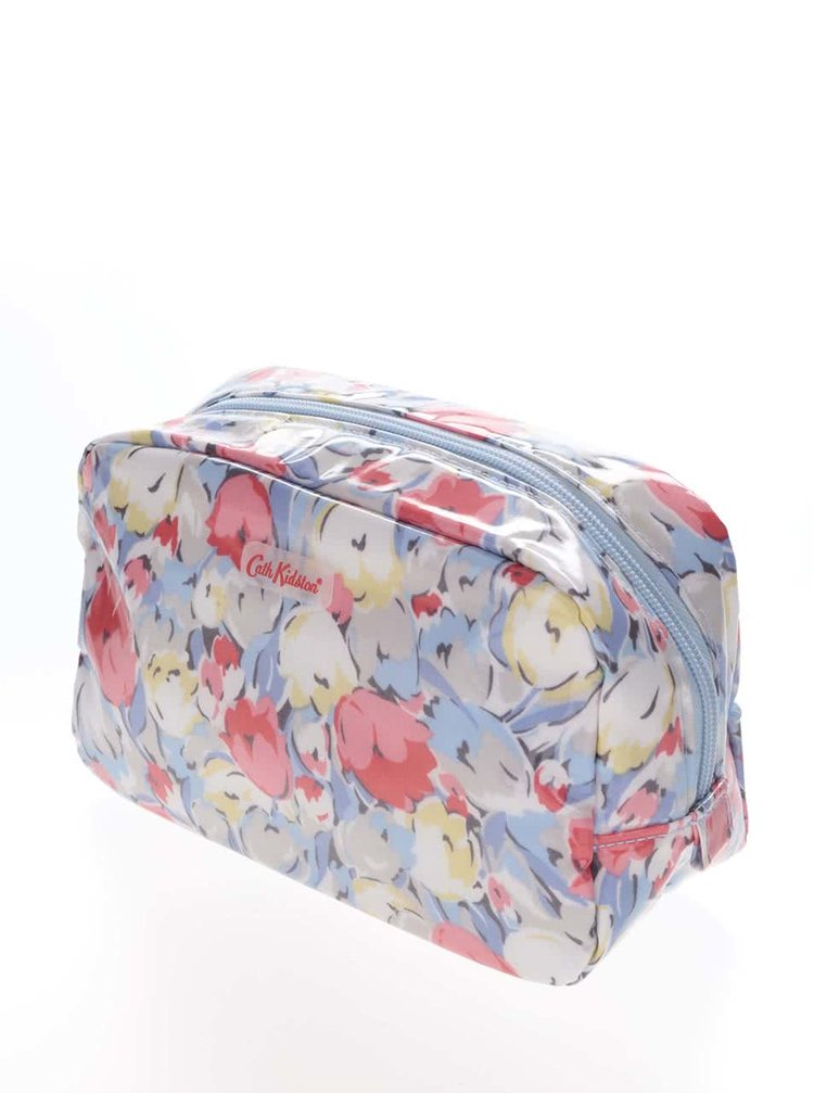 Modrá kozmetická taštička s tulipánmi Cath Kidston