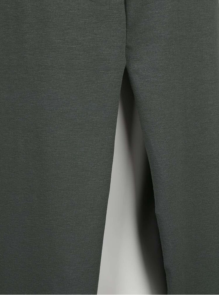 Olivovozelená midi sukňa ZOOT simple