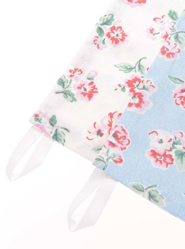 Sada dvou modro-krémových utěrek na nádobí s květinami Cath Kidston