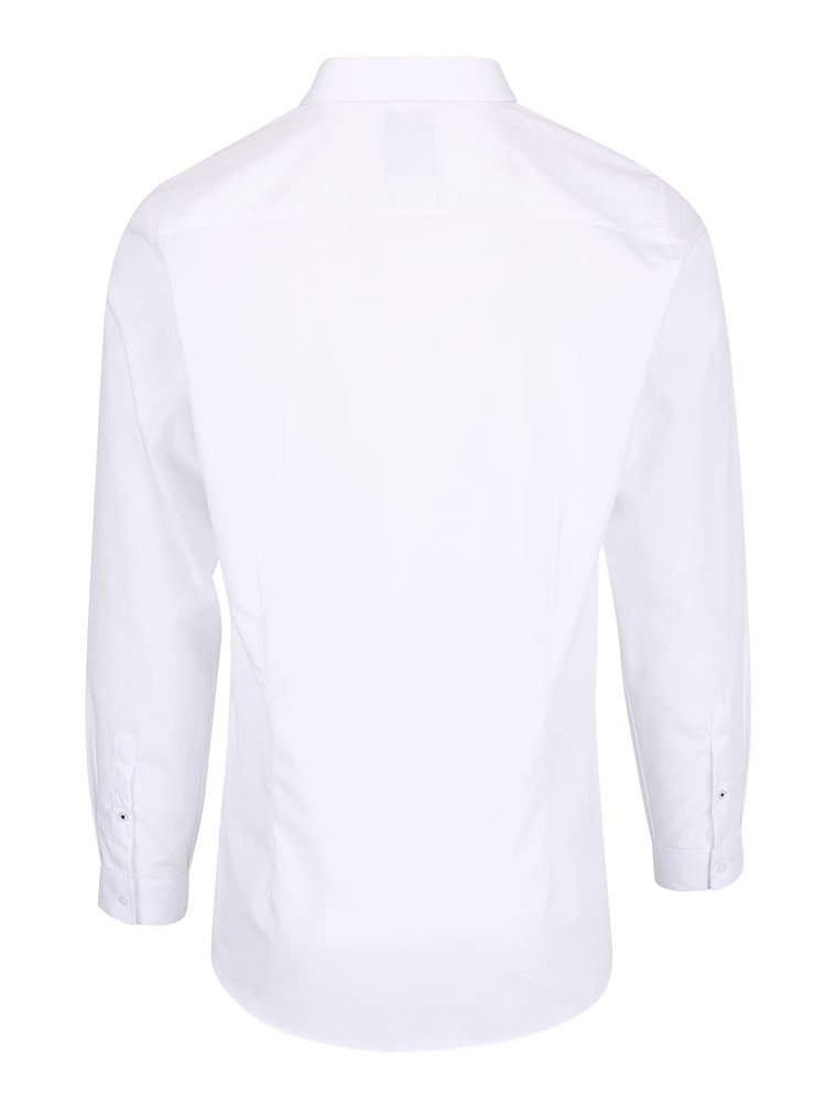 Biela skinny fit košeľa Burton Menswear London