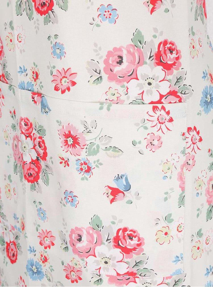 Krémová kuchyňská zástěra s květinovým motivem Cath Kidston