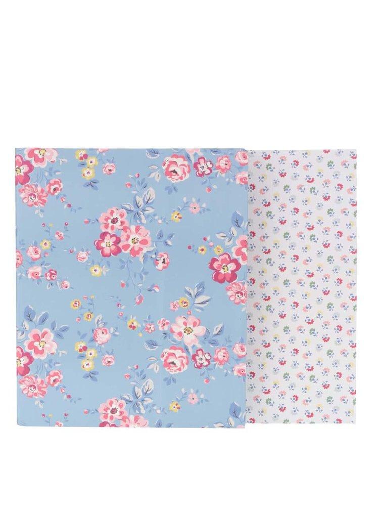 Bílo-modrá sada dvou šanonů s květinovým motivem Cath Kidston