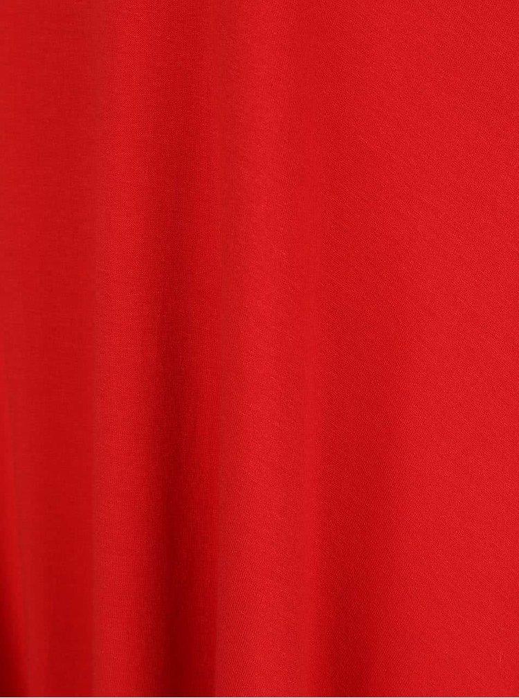 Červené dámske voľnejšie tričko s kratšou prednou časťou ZOOT simple