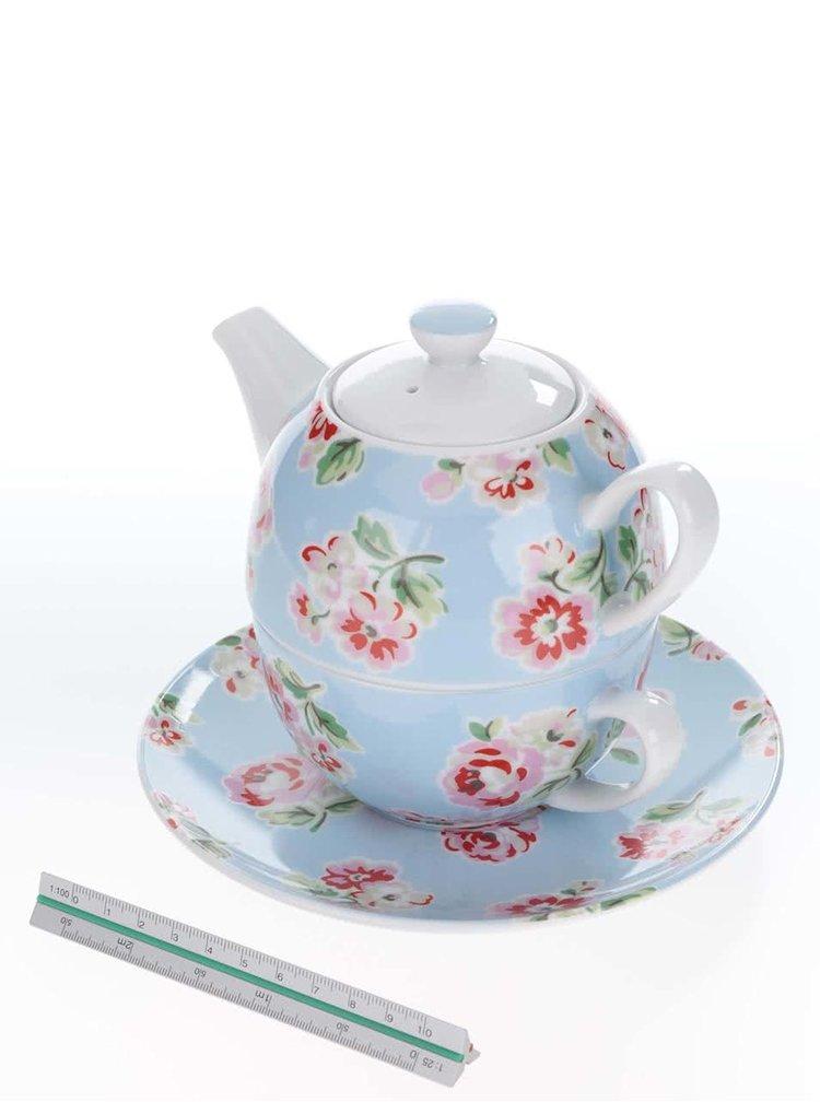 Súprava modrej kvetinovej kanvičky a šálky s podšálkou Cath Kidston