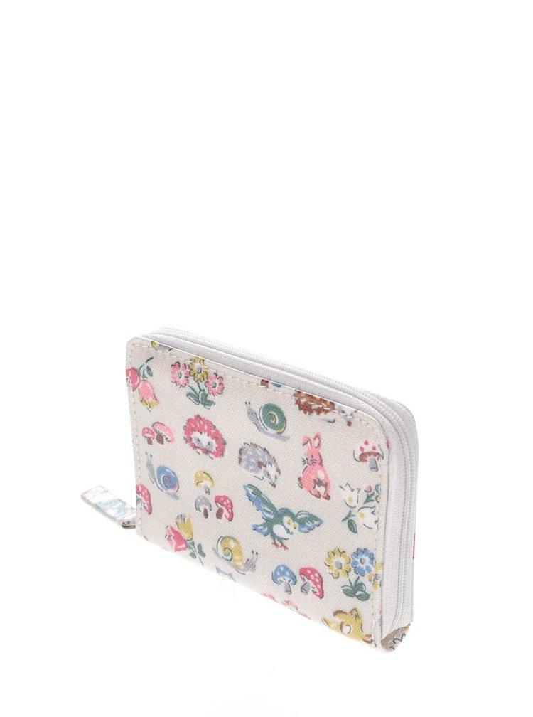 Krémová miniaturní peněženka na zip se zvířátky Cath Kidston