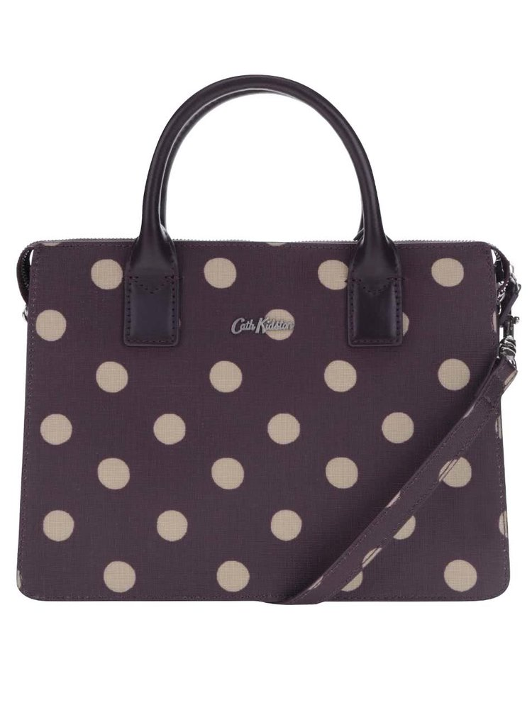 Fialová kabelka s bodkami Cath Kidston